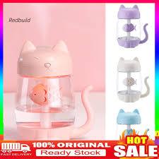 jsq-350ml <b>Cartoon Cat</b> LED Night Light <b>Humidifier</b> Mini <b>Fan</b> Car ...