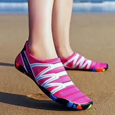 <b>Large Size Outdoor</b> Flat Heel Elastic Cloth Sneakers | Water shoes ...