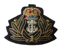 Navy Beret Badges <b>embroidered</b> by Hand and <b>Lock</b>