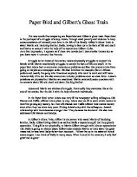 i know why the caged bird sings is an autobiography by mya angelou    paper bird and gilbert    s ghost train