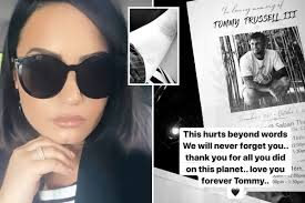 <b>Demi Lovato</b> gets tattoo tribute before funeral of friend who died of ...