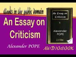 an essay on criticism alexander pope audiobook   youtube an essay on criticism alexander pope audiobook
