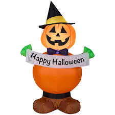 Gemmy Industries Airblown Inflatables <b>Pumpkin Witch</b>, 4 ft - Walmart ...