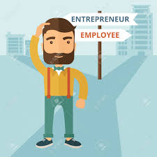 a hipster caucasian man change career directions employee to a hipster caucasian man change career directions employee to entrepreneur street direction a sign of progress