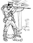 Солдат великая отечественная война раскраска