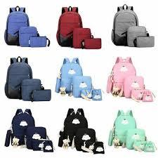 Men <b>Women Girls Backpack Set</b> Travel Shoulder School Bag ...