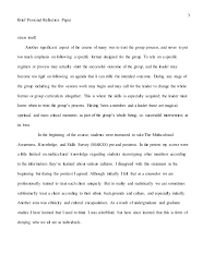 brief personal reflection paper final week        brief personal reflection paper