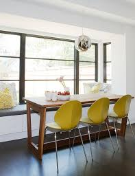 contemporary yellow dining chair