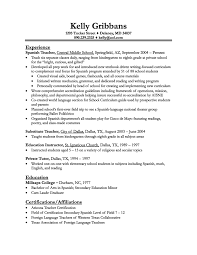 cover letter sample resume for a teacher sample resume for a cover letter resume examples teaching resume objective sample objectives for teachers experience as spanish teacher in