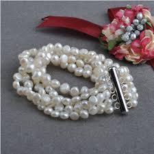 China <b>5strands</b> Nugget <b>Baroque Natural</b> Freshwater Pearl Bracelet ...