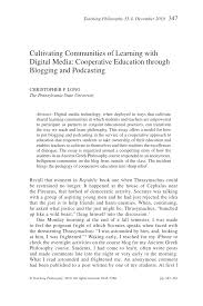 cultivating communities of learning with digital media  document is being loaded