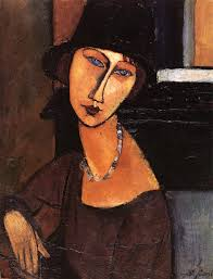 jeanne-hebuterne-con cappello e collana. A. Modigliani, Jeanne Hébuterne con cappello e collana. La morte precoce di questo immenso artista ci ... - jeanne-hebuterne-con-cappello-e-collana