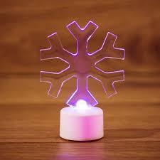 "<b>Светодиодная фигура</b> 2D ""<b>Снежинка</b>"" 10 см на подставке, цвет ..."