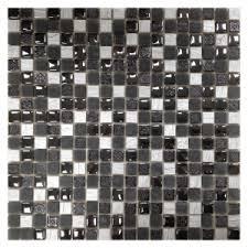 <b>Мозаика</b> из стекла и камня <b>ORRO Glasstone</b> Lavada Black, шт ...