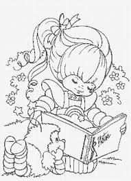 Small Picture Coloring Pages Rainbow Brite Coloring Pages Printable Free