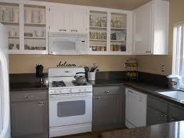 cabinet painted brown kitchen