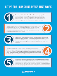 tips for launching perks that work deputy click here to our 5 tips for launching perks that work infographic
