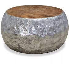 <b>Coffee Table</b> Aluminium Teak <b>60x60x30</b> cm -