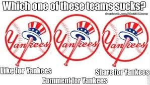 Wow, Even Facebook Hates The Yankees (MEME) | Funny Stuff & WTF ... via Relatably.com