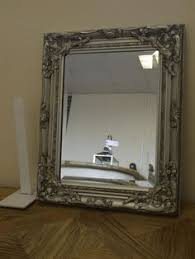 silver wall mirror with antique style ornate shabby chic frame antique dresser framed leaning mirror shabby chic
