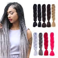 <b>Luxury</b> Solid Color Synthetic Big <b>Braid</b> Hair Extensions Wig ...