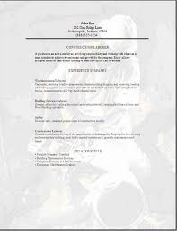 general objective for a resume a i general labour resume sample