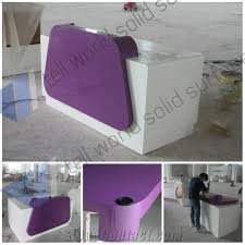 modern artificial stone small shop reception counter acrylic lighted reception desk reception counter design