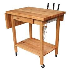 leaf kitchen cart: boos blocks qcl deluxe culi cart maple edge grain top with