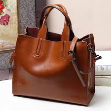 Luxury <b>100</b>% <b>Real Leather Women</b> Designer Handbags Brand ...