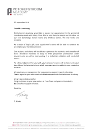 letter of appreciation the potchefstroom academy letter of appreciation ergosystem