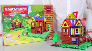 <b>Magformers Log</b> House Set - YouTube