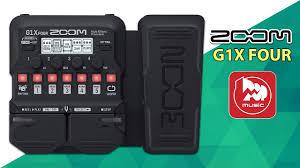 <b>Гитарный процессор ZOOM</b> G1X FOUR (новинка 2019) - YouTube