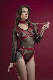 <b>Поводок</b> Feral Feelings - Chain Leash красный, металлическая ...
