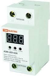 SQ1504-0020, <b>Реле напряжения</b> однофазное 63А АЗМ LED-63А ...