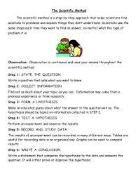 grade  science study guide the scientific method test date the scientific method scientific method