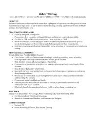 resume nanny skills how to make a good example for throughout 19 inspiring how to write a nanny resume