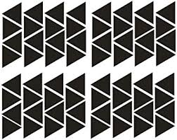YOYOYU Wall Decor 64 pieces Removable triangles ... - Amazon.com