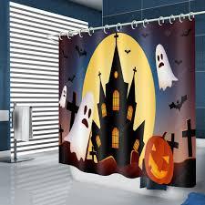 <b>Halloween Castle Pattern</b> Waterproof Shower Curtain Sale, Price ...