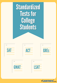 standardized tests for college students elearners standardized tests