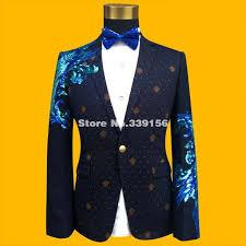 <b>2019 Newest</b> 4XL <b>Mens</b> Formal Suit Jacket Blazer Fashion Blue ...