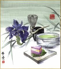 Картина <b>Летний</b> чай 24х27 суми-э ирис фиолетовый розовый ...