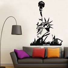 liberty bedroom wall mural: hot sale statue of liberty new york city decal fashion home decor wall sticker modern vinyl