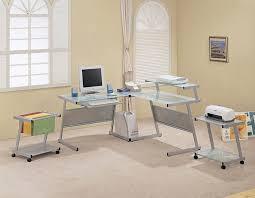 modern glass desk design for home office by laflat adorable office depot home office desk perfect