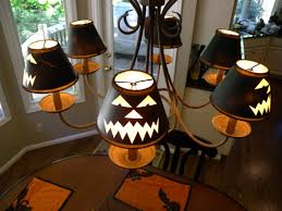 cool design ideas scary halloween mantel decorations thinkter ballard design inspired jack olantern lamp shades clockwork in case you missed my love for halloween