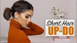 Easy <b>Short</b> Hair Updo! - YouTube