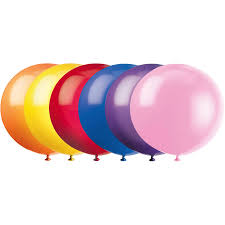 <b>Latex</b> Round <b>Giant</b> Balloons, <b>36 in</b>, Assorted, 6ct - Walmart.com