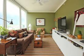 narrow living room  view in gallery  small narrow living room green walls