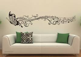 Wall Design Ideas wall decals art ideas butterfly music design wall art design