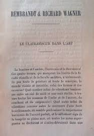 rembrandt and richard wagner project awe copy  the first page of imbert s essay in french