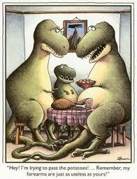 The Far Side- T-Rex Arms | T-Rex's Short Arms | Know Your Meme via Relatably.com